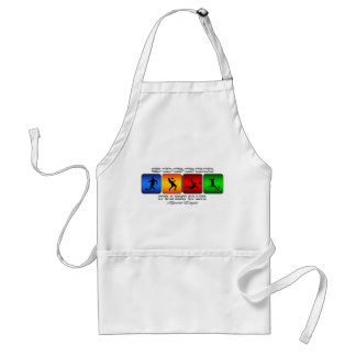 Cool Soccer It Is A Way Of Life Standard Apron