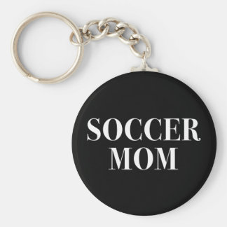 Cool Soccer Mom Slogan Keychain