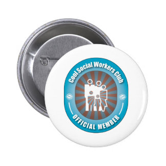Cool Social Workers Club 2 Inch Round Button