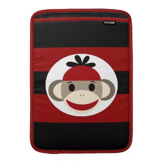Cool Sock Monkey Red Black MacBook Air Sleeve