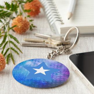 Cool Somalia Flag Star Keychain