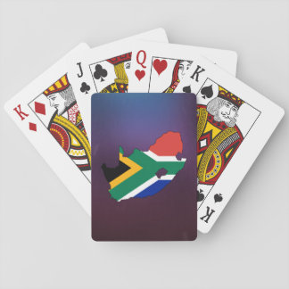 Cool south africa Flag Map Playing Cards
