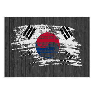 Cool South Korean flag design Poster