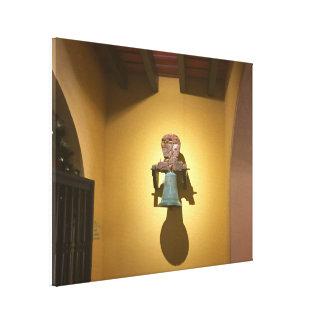 Cool Southwest Mauve Yellow Historic Metallic Bell Canvas Print