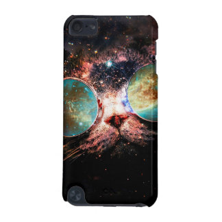 Cool Space Cat with Telescope Glasses in space iPod Touch 5G Covers
