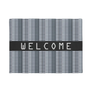 COOL Space Gray Contemporary Abstract Pattern Doormat