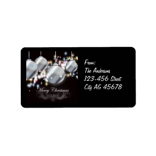 Cool Sparkling Christmas Address Labels