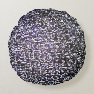Cool Sparkly Disco Ball Stained Glass Design Round Pillow