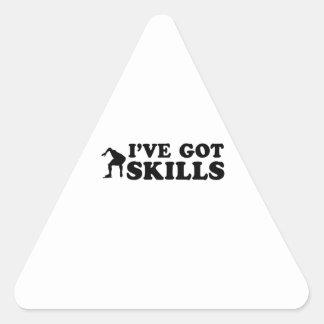 cool speedskate designs triangle sticker