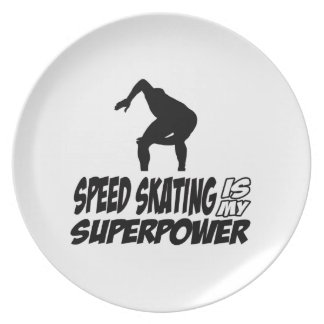 Cool SPEEDSKATING designs Dinner Plates