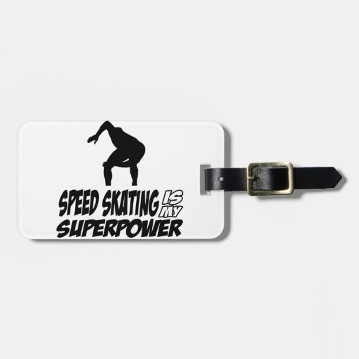 Cool SPEEDSKATING designs Tag For Bags