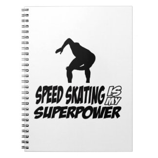 Cool SPEEDSKATING designs Notebook