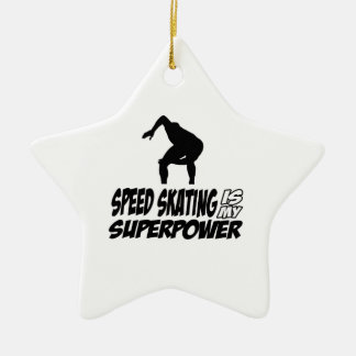 Cool SPEEDSKATING designs Christmas Ornaments