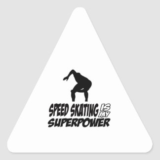Cool SPEEDSKATING designs Triangle Stickers