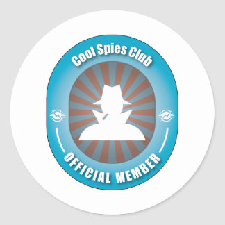 Cool Spies Club Classic Round Sticker