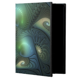 Cool Spirals Beige Green Turquoise Fractal Powis iPad Air 2 Case