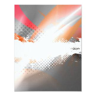 Cool Splatter Halftone Background Card
