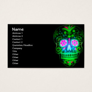Cool Spooky Sugar Skull Vintage Retro Art Business Card