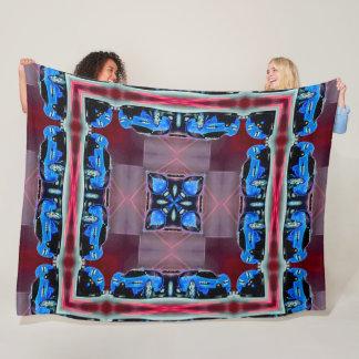 Cool Sports Car Trippy Mandala Quilt Fleece Blanket
