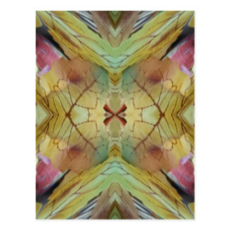 Cool Spring Fall Color Combo Pattern Postcard
