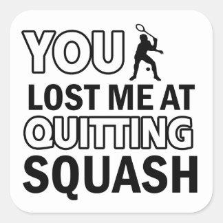 Cool Squash designs Square Sticker