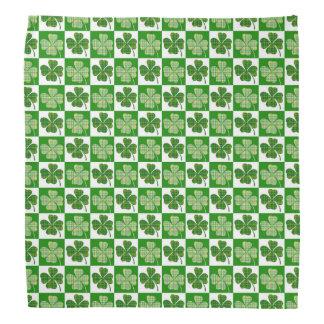 Cool St. Patrick's Day Four-leaf Clover Pattern Bandana