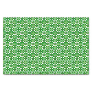 Cool St. Patrick's Day Four-leaf Clover Pattern Tissue Paper