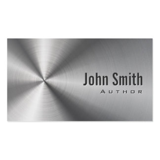 Cool Stainless Steel Author Business Card