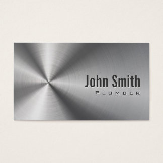 Cool Stainless Steel Plumbing Business Card