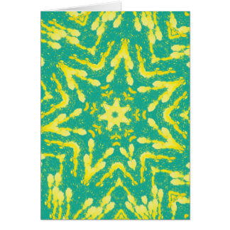 Cool Star Shaped Colorfull Pop Tye Dye Card