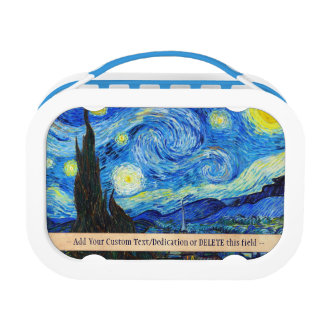 Cool Starry Night Vincent Van Gogh painting art Lunch Box