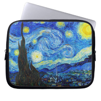 Cool Starry Night Vincent Van Gogh painting Laptop Sleeve