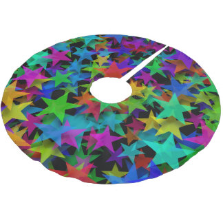 Cool Stars Rainbow Brushed Polyester Tree Skirt