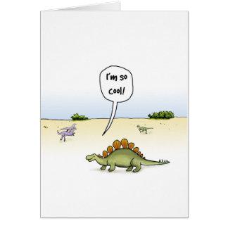 Cool Stegosaurus Birthday Card