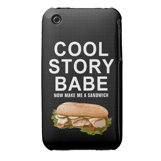 cool story babe iPhone 3 cases