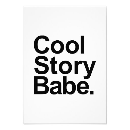 Cool story babe personalized announcements