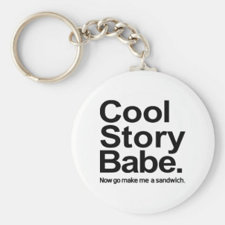 Cool story babe keychains