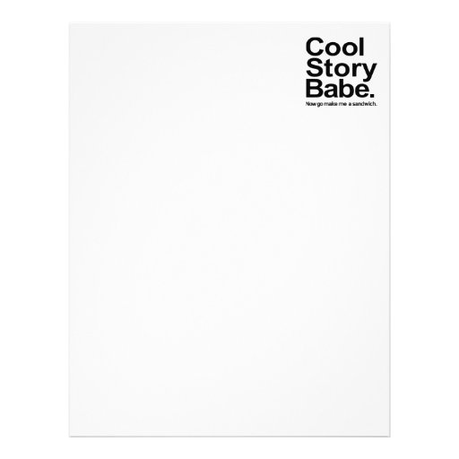 Cool story babe letterhead template