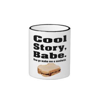 Cool story babe ringer mug