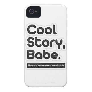 Cool Story Babe Now Go Make Me a Sandwich iPhone 4 Case-Mate Cases