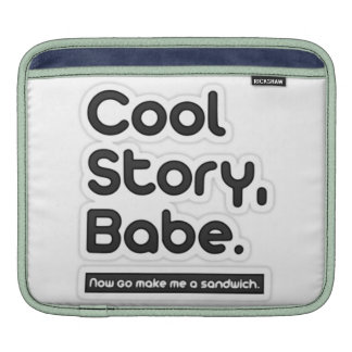 Cool Story Babe Now Go Make Me a Sandwich Sleeve For iPads