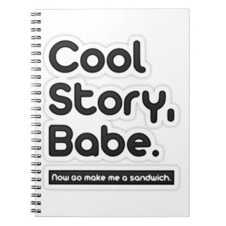 Cool Story Babe, Now Go Make Me a Sandwich Spiral Note Books