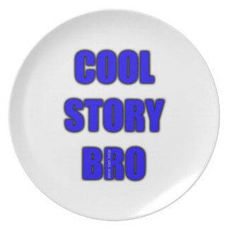 Cool Story Bro Button Party Plate
