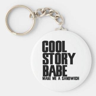 Cool Story Bro Parody Keychains