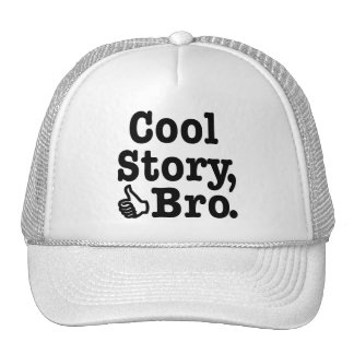Cool Story Bro with Thumbs Up Mesh Hats