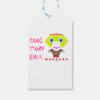 Cool Story Bruh-Cute Monkey-Morocko Gift Tags
