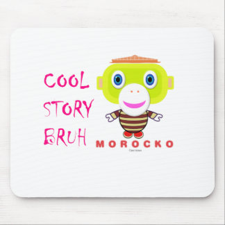 Cool Story Bruh-Cute Monkey-Morocko Mouse Pad