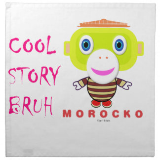 Cool Story Bruh-Cute Monkey-Morocko Napkin