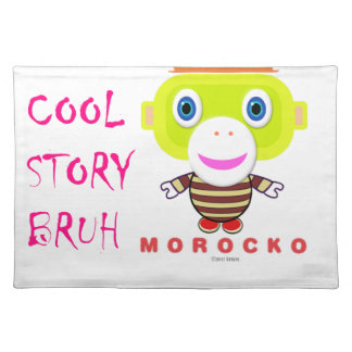 Cool Story Bruh-Cute Monkey-Morocko Placemat
