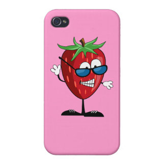 Cool Strawberry Character Covers For iPhone 4